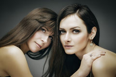Double brunette Royalty Free Stock Images