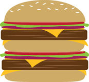 Double Burger Royalty Free Stock Photo