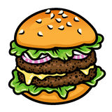 Double burger Royalty Free Stock Photography