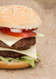 Double Burger Stock Photography
