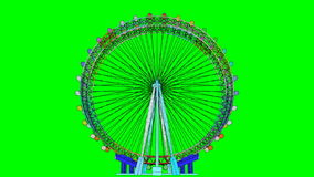 Double Carousel Animation On Green Screen stock video footage
