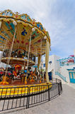 Double carousel. At children amusement park Stock Image