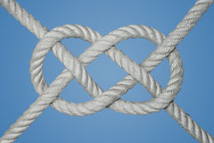 Double Carrick Bend. The carrick bend is a knot used for joining two lines. It is particularly appropriate for very heavy rope stock images
