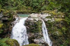 Double cascade Photo stock