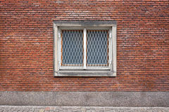 Double casement window with grill Stock Photo