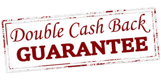 Double cash back guarantee Royalty Free Stock Photography