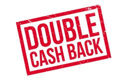 Double Cash Back rubber stamp Stock Image