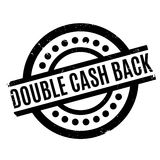 Double Cash Back rubber stamp Royalty Free Stock Photo