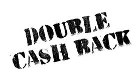 Double Cash Back rubber stamp Stock Photography