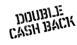 Double Cash Back rubber stamp Stock Images