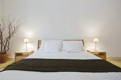 Double chambre à coucher photos stock