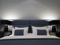 Double chambre à coucher moderne Photos libres de droits