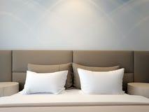 Double chambre à coucher moderne Image libre de droits