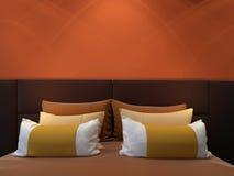 Double chambre à coucher moderne Photos stock