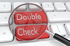 Free Double Check Concept Stock Image - 147788531