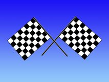 Double checkered flag royalty free stock photo
