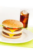Double cheese burger Stock Photos