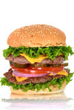 Double Cheese Burger Royalty Free Stock Photo