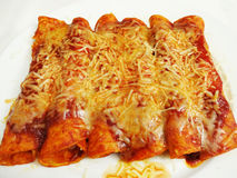 Double Cheese Enchiladas Stock Photo