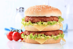 Double cheeseburger Royalty Free Stock Photo