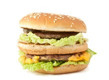 Double cheeseburger Stock Photos