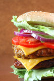 Double cheeseburger Stock Photography