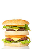 Double cheeseburger Images libres de droits