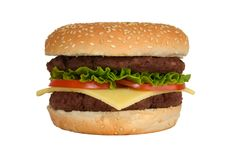 Double Cheeseburger Stock Image