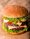 Double cheeseburger Royalty Free Stock Images