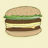 Double Cheeseburger stock illustration