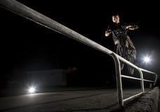 Double cheville sur une balustrade Image libre de droits