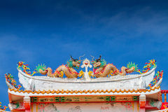 Double chinese Dragon Stock Images