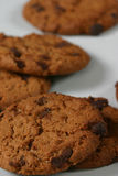 Double Choco Chip Cookies. Choco Chip Cookies - In the United States and Canada, a cookie is a small, flat-baked treat, containing milk, flour, eggs, and sugar Stock Photography