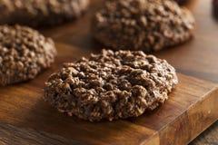 Double chocolat Chip Oatmeal Cookies photo libre de droits