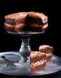 Double chocolate cake Stock Photo