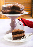 Double chocolate cake Stock Photography
