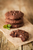 Double chocolate chip cookies Stock Photography
