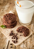 Double chocolate chip cookies Stock Photo
