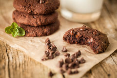 Double chocolate chip cookies Stock Image