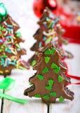 Double chocolate christmas trees Stock Image