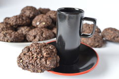 Double chocolate cookies Royalty Free Stock Image