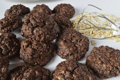 Double chocolate cookies Royalty Free Stock Photos