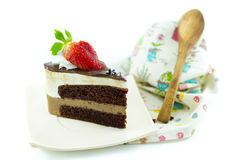 Double chocolate mousse cake Stock Image