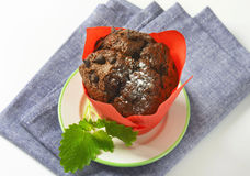 Double chocolate muffin Royalty Free Stock Photos