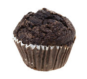 Double chocolate muffin on a white background Stock Photo