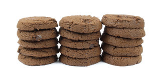 Double chocolate sugar free cookie stacks Stock Photography