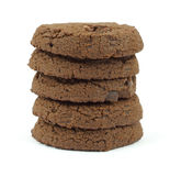 Double chocolate sugar free cookies stack Royalty Free Stock Photography