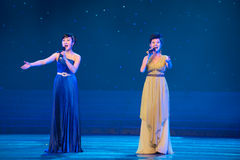 Double Chorus. March 2, 2011. a reflection of Jiangxi original ecological humanities landscape of large style song and dance the wind in Jiangxi Art Theatre royalty free stock photo