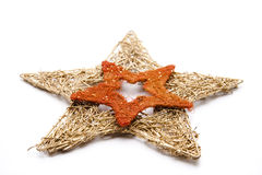 Double Christmas star twisted Royalty Free Stock Photography