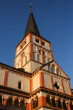 Double church in Bonn. At evening, Germany Stock Photo